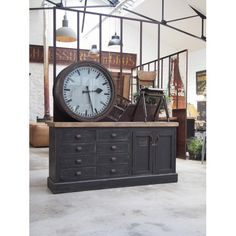 Meuble bois style mercerie Decoration, Style Indus, Divider, Diy, Clocks, Buffet, Watches, Home Decor, Interiors