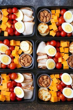 Deli Snack Box - Prep for the week ahead with these healthy, budget-friendly snack boxes! High protein, high fiber and so nutritious!