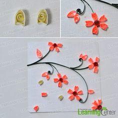 Stick petals to twigs