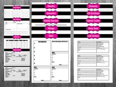 Direct Sales Printable Planner Pure Romance, Thirty One, Paparazzi, Perfectly Posh, Pink Zebra, Avon, Pink Papaya, Damsel in Defense