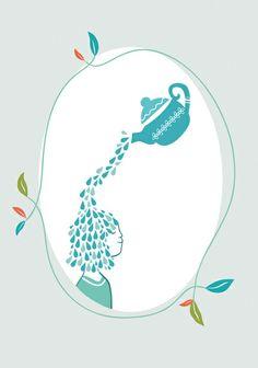 tea drop Art Print   Dear Wise Rabbit