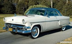 1954 Ford Crestline Skyliner Two Door Hardtop Just like my dad's.  This was the first car I drove, a stick shift.