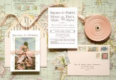 Three Ideas for Adding a Personal, Unique Touch to #DIY #Wedding Invitations via Oh So Beautiful Paper: http://ohsobeautifulpaper.com/2014/05/how-to-add-your-personal-touch-diy-wedding-invitations/ | Post + Photo: Antiquaria