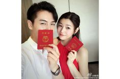 Condor Heroes couple Michelle Chen and Chen Xiao marry and announce her pregnancy on his birthday - The Straits Times