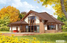 Projekty domów ARCHIPELAG - Edek G2 Mocca Mocca, Design Case, House Front, Home Fashion, Vacation Spots, Cabin, House Design, House Styles, Modern
