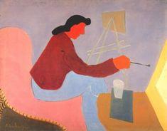 Milton Avery (American, 1883-1966), Female Painter, 1945