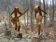 scrap metal to old horseshoes, Jim fashions indoor and outdoor metal ...800 x 600 | 243.4 KB | cedarfox.com