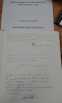 Dia de los Archivos del Instituto Cajal