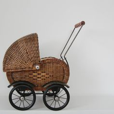 Wicker pram available at Tea and Kate