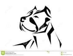 Resultado de imagen para perro pitbull abstracto