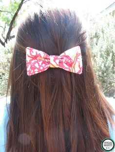 Chi Omega Lilly Pulitzer Fabric Bow MEDIUM by ASETX on Etsy