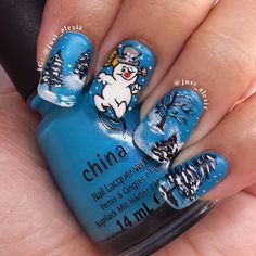 frosty snowman by just_alexiz #nail #nails #nailart