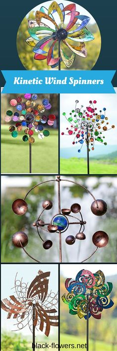 Designed to add movement to garden decor, kinetic wind sculptures are beautiful pieces of art that incorporate the clever use of sculpted pieces which spin in different directions with the blowing wind.