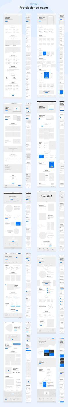DOB – Desktop & Mobile Wireframe Kit by laaqiq on Wireframe Web, Mobile Wireframe, Best Ui Design, Design Ios, Web Layout, Layout Design, Design Thinking, Latest Design Trends, Ui Kit