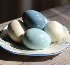 East of India Hand Painted Wooden Eggs (Codes 50-53)