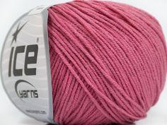 Fiber Content 50% Acrylic 50% Cotton Rose Pink Brand Ice Yarns fnt2-43070