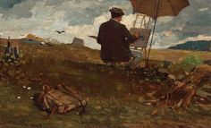 Winslow Homer Paintings Civil War | Winslow_Homer_-_Artists_Sketching_in_the_White_Mountains_2