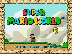 Super Mario World for Super Nintendo--heck yes! (still my favorite game of all time- I actually bought a vintage game set and game LOL)