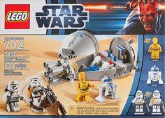 Minifigures: C-3PO, R2-D2, Sandtrooper Commander, Sandtrooper Sergeant