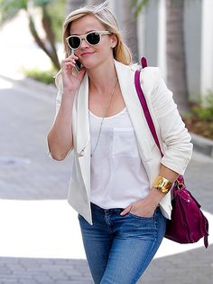 Star Tracks: Monday, March 31, 2014 | SHADY LADY | Reese Witherspoon color-coordinates her shades and her blazer while out in Beverly Hills on Friday.