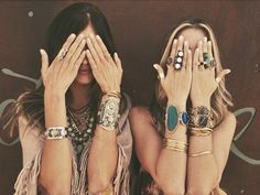 Natalie B. Jewels boho jewelery. Bracelets and rings.