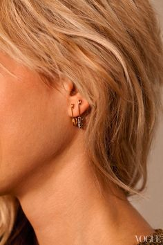 safety pin #earrings #Vogue style editor #ElisabethVonThurn