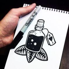 Pablo Contreras. -- Me gustó esto de dibujar directo con el Sharpie, sin boceto…