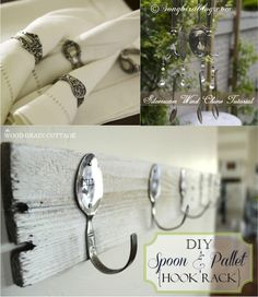 Cool Stuff to DIY with Old Spoons — and a few forks | http://diyfunideas.com/  BEST DIY WEBSITE EVER!
