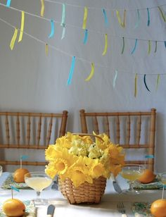 Sweet bunting/garland style decoration using masking tape