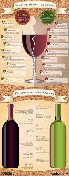 Woran man guten (und schlechten) Wein erkennt #infografía