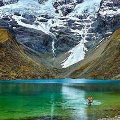 Location: Glacial lake above Soraypampa - Salkantay trek to Machu Picchu, Peru. Photo Credit: @johnmckenna1992