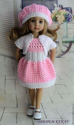 Купить Платье, болеро, берет на Паолочку и кукол схожего размера - платье, для кукол, платье для куклы