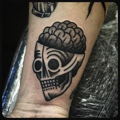 Another one of these #skull #brain #tattoo #tattoos Done at @sbldnttt