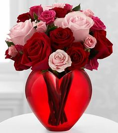 The My Heart to Yours™ Rose Bouquet by FTD® - VASE INCLUDED- Deluxe