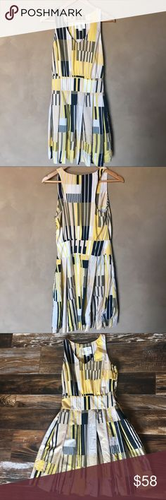Anthropologie Maeve dress Drop waist dress, little buttons and zipper on the side, 38 shoulder to hem, 14 in across waist, 17 in armpit to armpit, silk cotton blend, sz 2, excellent condition. Anthropologie Dresses