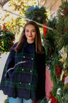 Scallop-Hem Cape along with Mistletoe and Holly - The Coastal Confidence|The Coastal Confidence| |New England| |New England winter| #winter #winterfashion #newengland #newenglandstyle #christmas #christmashome #talbott |Talbott| #talbotspetites