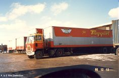 Taggart Service Ltd., bought out by Myers Transport, summer Photo taken in Scarborough yard, Dec. Big Rig Trucks, Gmc Trucks, Truck Transport, Heavy Equipment, Shortbread, Back In The Day, Warriors, 1980s, Transportation