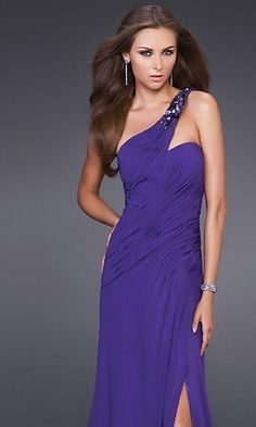 Purple Dress with one shoulder