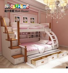 <<Learn more about twin over full bunk bed plans. Click the link to get more information>>>>>> Our web images are a must see!! Bunk Beds For Girls Room, Bunk Beds Small Room, Modern Bunk Beds, Bunk Beds With Stairs, Cool Bunk Beds, Kid Beds, Bed Rooms, Small Rooms, Loft Beds