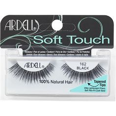 Ardell's Soft Touch Lash offers an innovative lash option for the new or frequent lash user. Dual features of this exclusive new lash are the tapering end of each hair resulting in a perfectly seamless look, as well as new super soft lash fibers. Ardell Eyelashes, Applying False Eyelashes, Applying Eye Makeup, False Lashes, Artificial Eyelashes, Fake Eyelashes, Long Lashes, Makeup Mistakes, Eyelash Glue