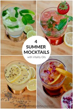 4 Summer Mocktail Recipes - Recipes with Essential Oils My Recipes, Cooking Recipes, Drink Recipes, Pomegranate Juice, Mojito Ingredients, Cooking With Essential Oils, Summer Drinks, Refreshing Drinks, Drink
