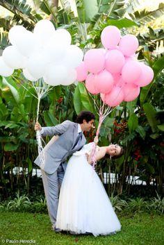 Balões no seu casamento: alegria, cores e diversão