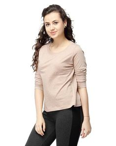 LadyIndia.com # Tops, Skin Color Plain Casual T-Shirts For Girls Ladyindia47, Casual Wear, TOPS & SHIRTS, Western Wear, Tops, Tees, Shirts, https://ladyindia.com/collections/western-wear/products/skin-color-plain-casual-t-shirts-for-girls-ladyindia47?variant=36579768589