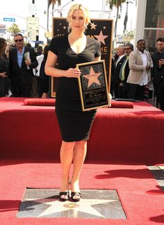 Kate Winslet received her star on the Hollywood Walk of Fame in Hollywood.