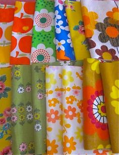 Pretty vintage fabrics I am turning into needlecases.