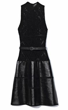 Crochetemoda: Vestido de Crochet e Couro