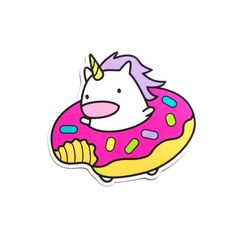 donut unicorn sticker