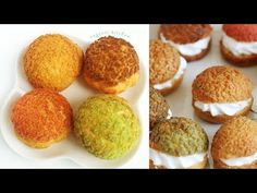 Choux au Craquelin - French Crunchy Cream Puff Recipe   Eugenie Kitchen