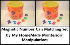 My HomeMade Montessori: maagnetic numbers matching activity