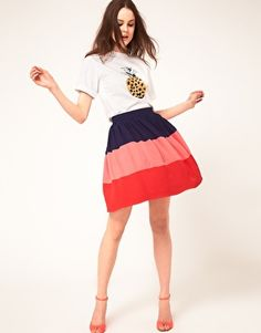Falda colour block de Boutique by Jaeger
